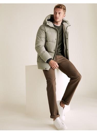 Marks & Spencer Stormwear™ Kapüşonlu  Pufa Mont Renksiz